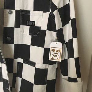 (NEW)OBEY Bishop Checkered Jacket